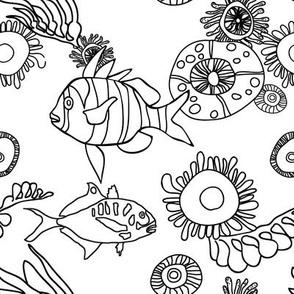 ocean coloring book