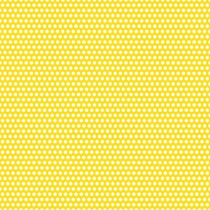 Micro Spot - White on Yellow