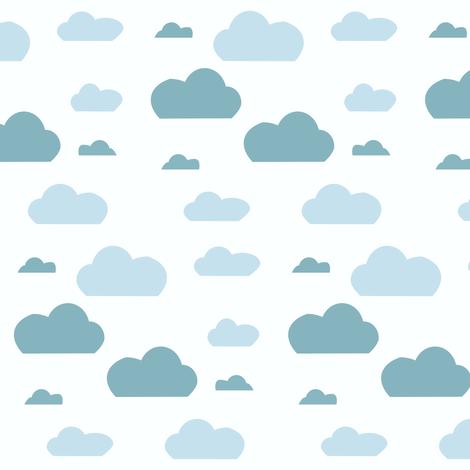 Cloud blue fabric by bruxamagica on Spoonflower - custom fabric