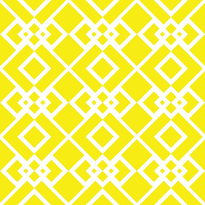 Diamond Trellis Yellow