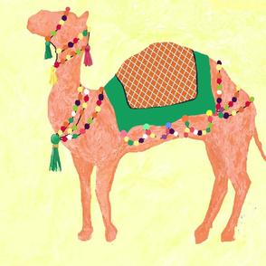 camel caravan sun