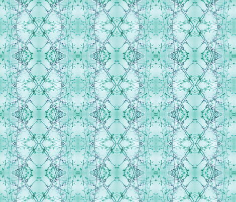 Redbud  (Helix Teal) fabric by belovedsycamore on Spoonflower - custom fabric