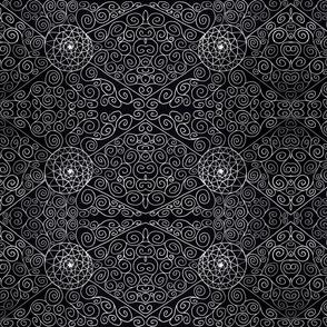 Spirals, White on Black