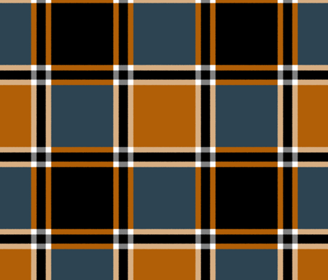 Bonfire Nights Tartan ~ Faux Flannel  fabric by peacoquettedesigns on Spoonflower - custom fabric