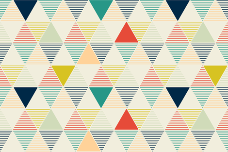 Modern Geometric fabric by lemonni on Spoonflower - custom fabric