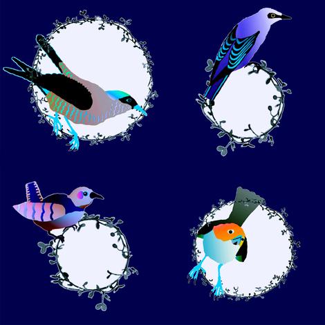 songbird dot plum fabric by keweenawchris on Spoonflower - custom fabric