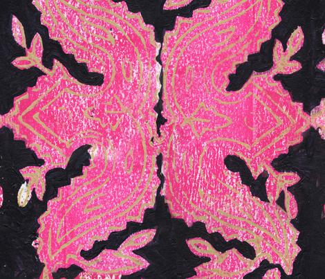 Hot Pink Block Print fabric by georgenasenior on Spoonflower - custom fabric