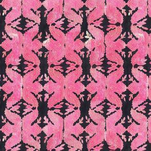 Hot Pink Block Print