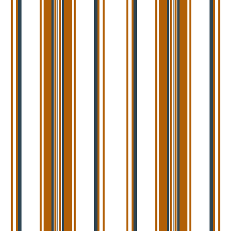 Bonfire Nights ~ Stripe ~ Bonfire and Hermitage on White  fabric by peacoquettedesigns on Spoonflower - custom fabric