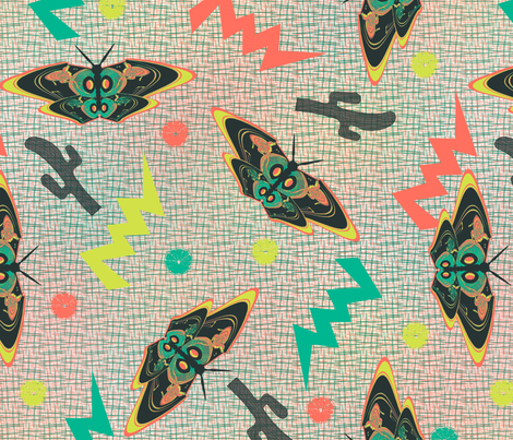 Turntable butterflies fabric by susiprint on Spoonflower - custom fabric