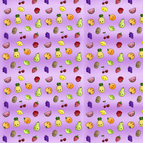 Kawaii Fruits Purple