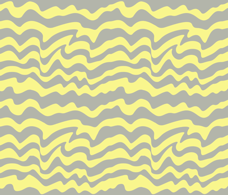 gray and yellow waves fabric by pamelachi on Spoonflower - custom fabric