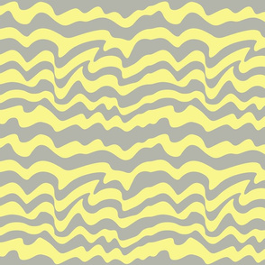 gray and yellow waves