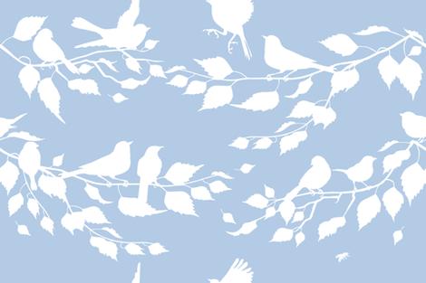 Avian Stripe fabric by lilyoake on Spoonflower - custom fabric
