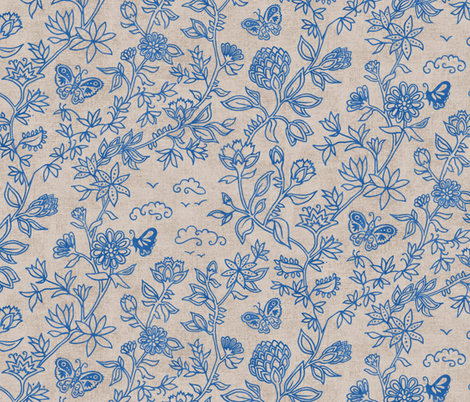 Palace Garden | Lapis Lazuli fabric by forest&sea on Spoonflower - custom fabric