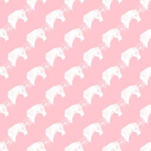 Unicorn Bust Diagonal on Pink