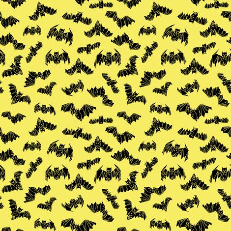bat bats geo geometric bright yellow halloween bat non