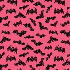 bat // geo geometric bats pink halloween kids girls tiny small bat fabric