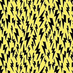 lightning bolt // yellow bright 80s 90s fabric bolts fabric bolt design andrea lauren design