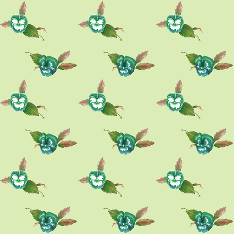 PansyDots_Spring fabric by thistleandfox on Spoonflower - custom fabric