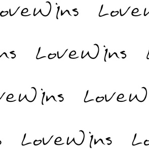 Love Wins Large Lettering