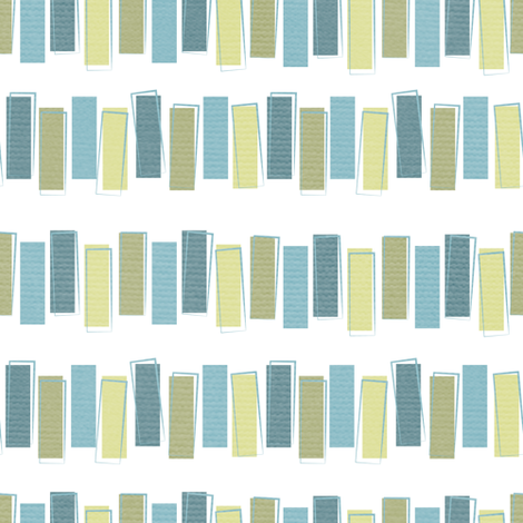 Tip-Toppy Blue/Green fabric by haleeholland on Spoonflower - custom fabric
