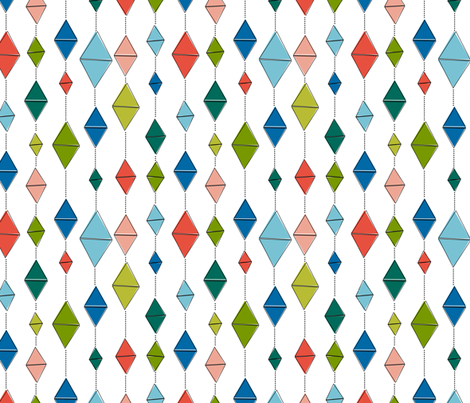 Never Ends - White fabric by haleeholland on Spoonflower - custom fabric