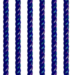 rainbow rope on white
