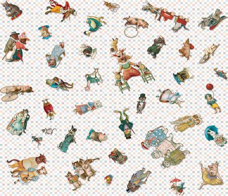 Playtime_Reading_Animals fabric by carolyn_grossman on Spoonflower - custom fabric