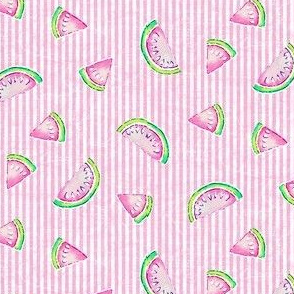Melon Stripe - Pink