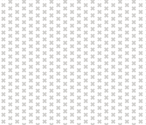 cross_grey_on_white_DOCFCE_1x1 fabric by mspiggydesign on Spoonflower - custom fabric