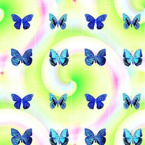 Blue Butterfly Swirl