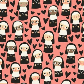 Nuns On Pink