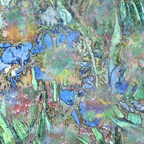 van Gogh Irises—Woven 12