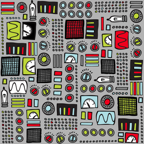 Robot Control Panels fabric by robyriker on Spoonflower - custom fabric