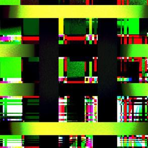 Neon plaid