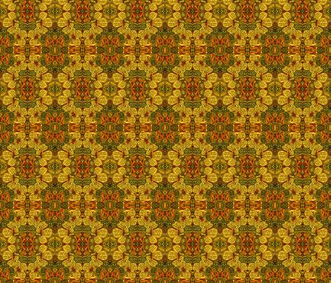 Hibiscus_mosaic2 fabric by monaharris on Spoonflower - custom fabric