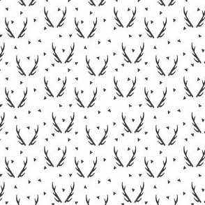 antlers // antler black and white triangle kids baby simple tiny baby