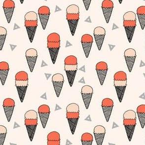 ice cream // ice cream cone sweets summer tropical print