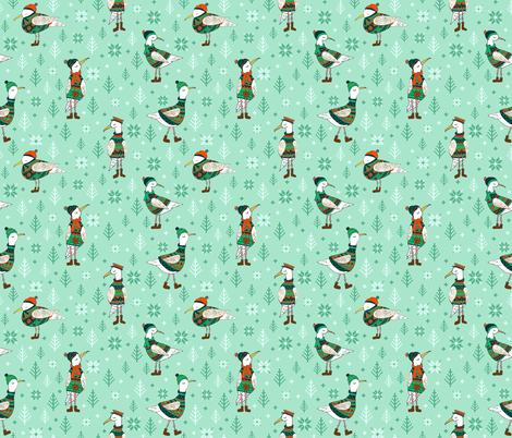 Seagulls in jumpers fabric by artypeaches on Spoonflower - custom fabric