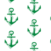 Anchors Large - emerald
