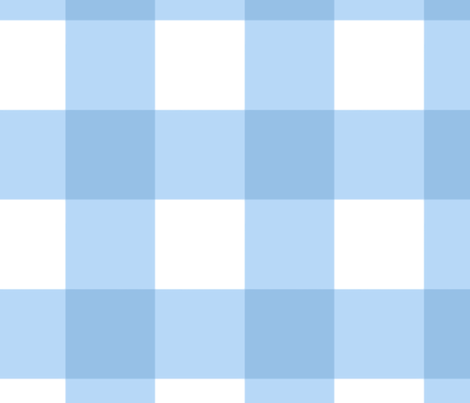 Large Buffalo Check in light blue fabric by domesticate on Spoonflower - custom fabric