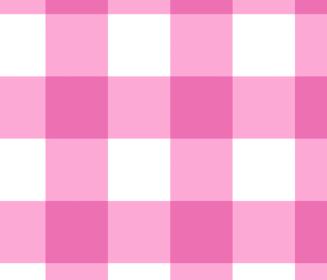 Large Buffalo Check in bright pink fabric by domesticate on Spoonflower - custom fabric