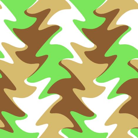 leaf swirl in lime, chocolate, and caramel fabric by weavingmajor on Spoonflower - custom fabric