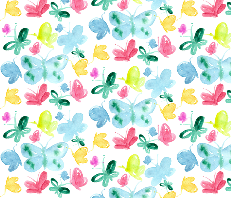 Butterflies fabric by countrygarden on Spoonflower - custom fabric