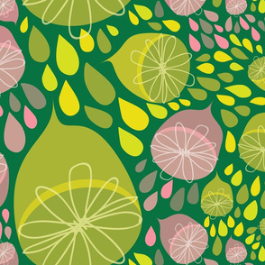 Lemonvaders on Dark Green