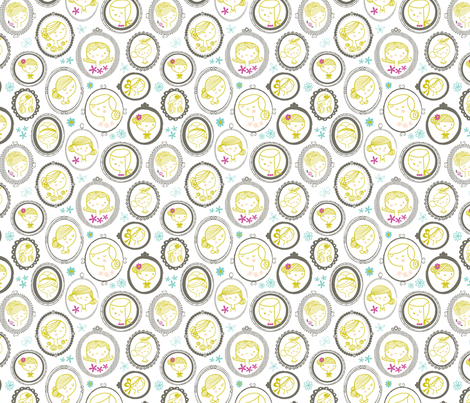cameo girls fabric by shindigdesignstudio on Spoonflower - custom fabric
