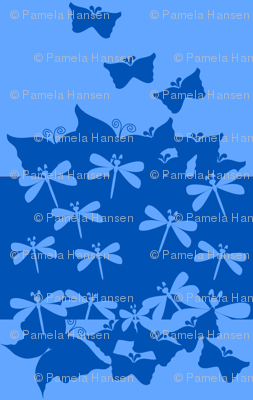 Blue butterfly Silhouettes