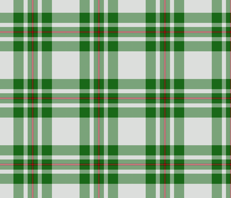 MacGregor dress green tartan fabric by weavingmajor on Spoonflower - custom fabric
