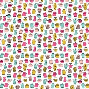 tea party // cute teapots tea sweet little girls tiny tea pots fabric for doll clothes sweet teapots